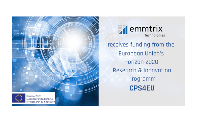 emmtrix Technologies receives funding from the European Union's Horizon 2020 Research & Innovation Project CPS4EU